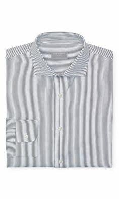 Slim-Fit Stripe Dress Shirt - Club Monaco Slim Fit  - Club Monaco
