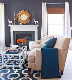 Try adding a sunburst mirror over your mantel! See more ideas: http://www.bhg.com/decorating/fireplace/styles/fireplace-designs/