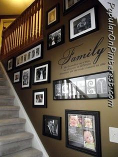 for the basement stairs after the kitchen re-do???    Photo Frames Stairway