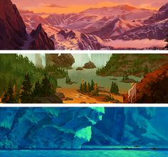 Brother Bear - Backgrounds