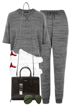 """Style #10506"" by vany-alvarado ❤ liked on Polyvore featuring Topshop, adidas and Yves Saint Laurent"