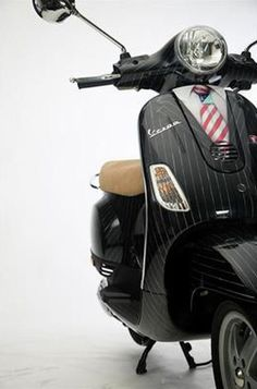 Vespa wrap – get an image you like, zip through to your nearest showroom and ask the pro's at Vespa for a quote. Wrap it now, unwrap it later and your Vespa will still look like a beauty. Call 08610 83772 for more.