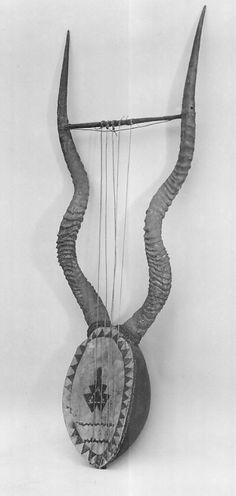 Lyre Date: 19th century Medium: Gourd, antelope horns, wood, skin