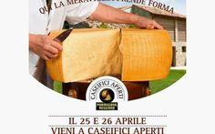 Caseifici Aperti alla scoperta del Parmigiano Reggiano #parmigiano #eventi #foodies #25aprile