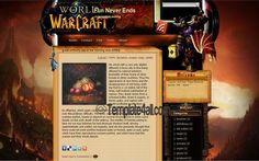 Blogger Templates - Warcraft Blogger Style #blogger #warcraft #bloggertemplates