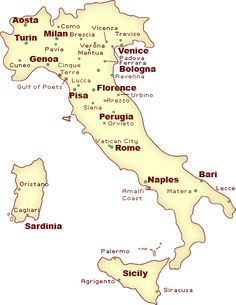 Italy Cities Map