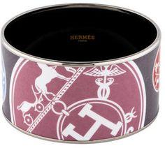 Hermès Extra Wide Enamel Bracelet