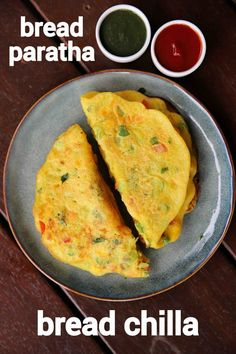 bread paratha recipe, bread chilla recipe, how to make bread parantha with step by step photo/video. interesting flat bread paratha with left over bread. Easy Samosa Recipes, Pakora Recipes, Chaat Recipe, Paratha Recipes, Spicy Recipes, Paneer Recipes, Recipe Recipe, Healthy Recipes, Indian Dessert Recipes