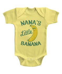 Its All Relative Yellow & Green Nanas Little Banana Bodysuit - Infant | zulily