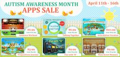 Apps for articulation disorder, language delay and disorders and social skills on sale during April. www.virtualspeechcenter.com