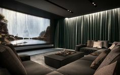 Home Theater Room Design, Home Theater Rooms, Home Room Design, Dream Home Design, House Design, Cinema Room Small, Home Cinema Room, Small Home Theaters, Dream House Interior