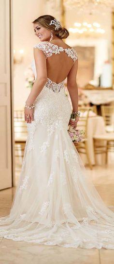Lace Mermaid Sexy Backless Wedding Dress
