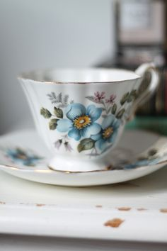 Teacups are a beautiful form of art. I plan to collect them in my home. Sigh....delicate and lovely