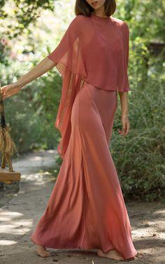 Silk Waistband Slip Dress by AWAVEAWAKE for Preorder on Moda Operandi