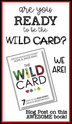 It's a New Year! We're pumped to head into a year filled with learning opportunities and chances to grow! Already 2018 has come in with a bang! Just a week ago, two of our favorite teacherson the planethave published a book to help share their passion for teaching and learning!  #bethewildcard