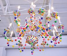 @Bonny Finnemore Candy chandelier, I know you said you were looking for ideas for the ceiling fan