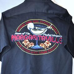 Jimmy Buffett Margaritaville Small Work Shirt New One Sip Admit Own Damn Fault