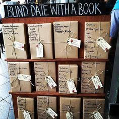 Fundraiser - blind date with a book (or toy, game etc). A great way to get rid of a few things you no longer need or use