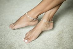 Silver Anklet Silver Chain and Spiral by OneYellowButterflyy