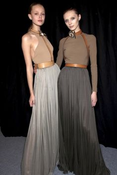 Frida Gustavsson and Olga Sherer backstage at Lanvin, S/S 2011.