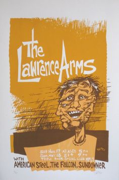 concert poster for The Lawrence Arms w/ American Steel, The Falcon, and Sundowner @ Triple Rock Social Club, Minneapolis