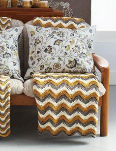 Touch of Honey Ripple Crochet Pattern | AllFreeCrochetAfghanPatterns.com
