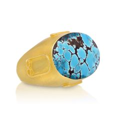 18K Persian Turquoise Ring-Front