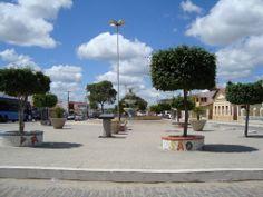 Soledade-PB, praça da Igreja Matriz no centro da cidade
