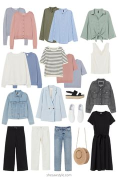 Fashion Tips For Guys How to Easily Create Endless Outfits for Your Spring Vacation 2020 Fashion Trends, Spring Fashion Trends, Fashion 2020, Autumn Fashion, Spring Trends, Fashion Tips, Fashion Fashion, Travel Outfit Spring, Spring Vacation