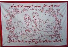 Amikor én nem leszek már... Vintage Iron, Wall, Drop Cloths, Red, Needlepoint, Walls