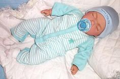 """Reborn Sleeping 18"""" Baby Boy Doll with Magnetic Dummy Adorable Child Friendly"""