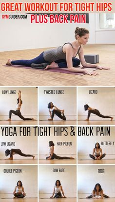 These yoga poses help stretch and strengthen the hips and the surrounding muscle. These yoga poses help stretch and strengthen the hips and the surrounding muscles Tight hips can Yoga Bewegungen, Yoga Moves, Yoga Flow, Hip Stretching Exercises, Hip Mobility Exercises, Knee Strengthening Exercises, Back Stretching, Foam Roller Exercises, Yoga Fitness
