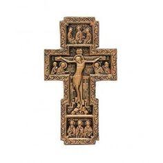 Cell Crucifix, $10.00, catalog of St Elisabeth Convent. Made to order.  #crucifix #cross #church #icon #orthodox #life #God #Jesus #Christ #faith #love #handmade #catalogofgooddeed #ordericon #buyicon #christianity #messiach #gypsum #polymer