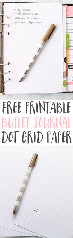 Bullet Journal Ideas |  Bullet Journaling |  Bullet Journal Printables |  Bullet Journal Layout |  Planner Ideas | Dot Grid Paper Printable via @frugalitygal
