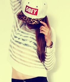 Obey hat LOVING the cheeta print