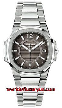 7011-1G-010 - This Patek Philippe Nautilus Womens Watch, 7011-1G-010 features 32.0 mm 18k White Gold case, Charcoal Gray dial, Sapphire crystal, Fixed bezel, and a 18k White Gold Bracelet. Patek Philippe Nautilus Womens Watch, 7011-1G-010 also features Quartz Movement, Analog display, Date at 3 o'clock. This watch is water resistant up to 50m / 165ft. - See more at: http://www.worldofluxuryus.com/watches/Patek-Philippe/Nautilus/7011-1G-010/46_58_8061.php#sthash.GdSh4KSg.dpuf