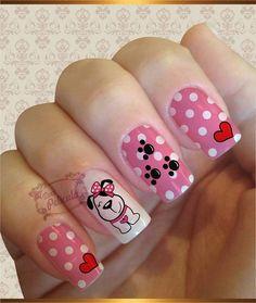 Nice Nails, Fun Nails, Anna, Nail Stuff, Mani Pedi, Finger, Nail Designs, Nail Art, Cartoon