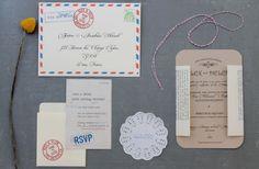 nostalgic wedding invitations by bride // photo by ChristianCruzPhotography.com