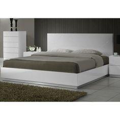 J&M Furniture Naples Platform Bed, White