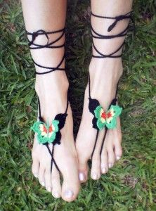 coloured Barefoot Butterfly Sandals.