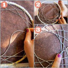 weaving tutorial, dreamcatcher
