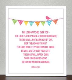 Baptism Gift Bible Verse Psalm 121 58 by CreativeWildChild Bible Verses For Kids, Favorite Bible Verses, Bible Verses Quotes, Favorite Quotes, Scriptures, Life Verses, Scripture Art, Psalm 121, Psalms