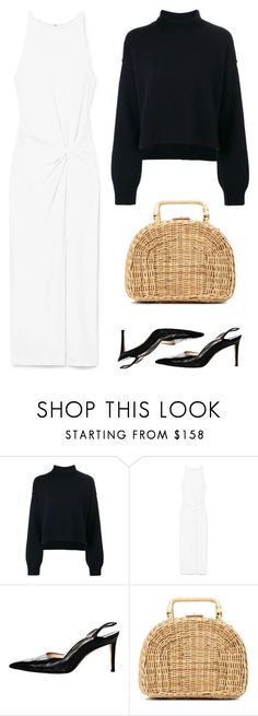 """""""Untitled #8080"""" by amberelb ❤ liked on Polyvore featuring Rejina Pyo, Dion Lee, Manolo Blahnik and Kayu"""
