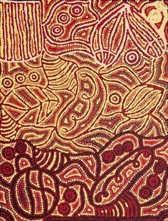 Ngalyipi Jukurrpa (Snake Vine Dreaming) - Purturlu by Reva Nungarrayi Dickson