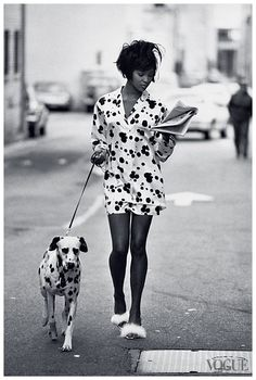Peter Lindbergh, Naomi Campbell, For Vogue, June 1990.