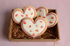 Roses Heart Cookies Recipe/ How -To