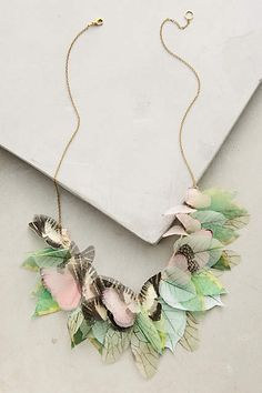 Mariposa Necklace - i love the combination of color!