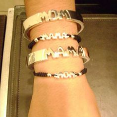 Lovemom sterling silver bracelets