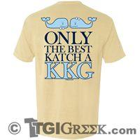 TGI Greek Tshirt - Kappa Kappa Gamma - Only the Best Katch a KKG #kappakappagamma #comfortcolors #tgigreek #sororityPR tgigreek@tgipromo.com