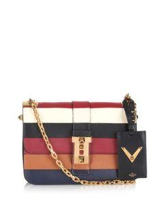 B-Rockstud colour-block leather shoulder bag  | Valentino | MATCHESFASHION.COM US